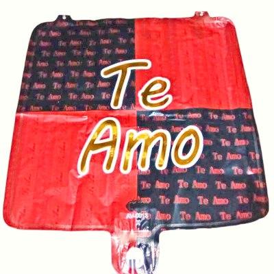 Globo Cuadrado Rojo Negro Te Amo Amor