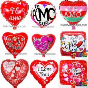 10'' Globos Metalizados Combo Amor c/sello x10