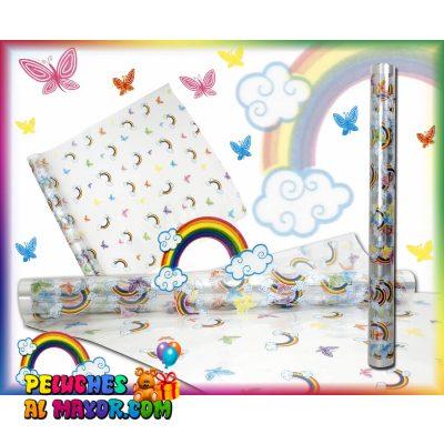 Papel Celofan arcoiris y mariposas