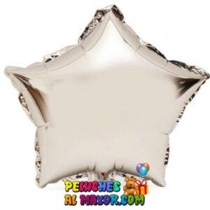 Estrella Metalizada Plateada