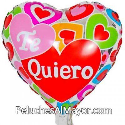 Globo Amor Corazon Colores Plateado
