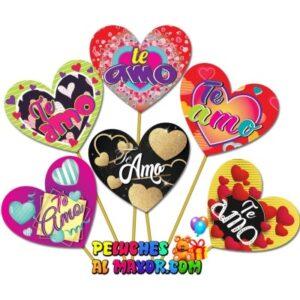 Piropos Corazones Amor Variado x 12