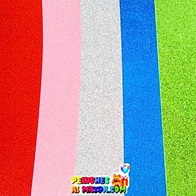 Foami A4 Escarchado set multicolor 2