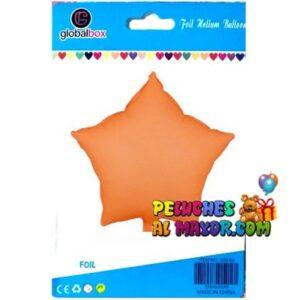 18″ Estrella Neon Naranja Blister