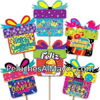 PIropos Topper Carton Regalo Feliz Cumpleaños