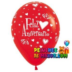 Globos Sempertex Aniversario Rojo x10u
