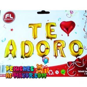 16′ Letras TE ADORO Dorado