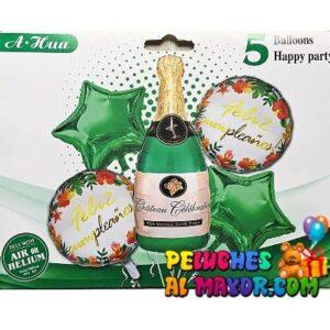 Bouquet Jumbo Botella Champ. Verde