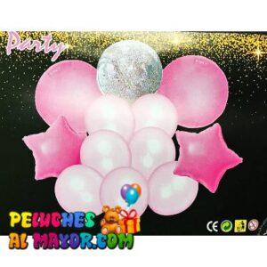 Bouquet Latex Pastel Rosado x12 unid