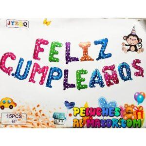 16'' Letras Feliz Cumpleaños Colores Blister