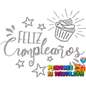 Sticker 30x20 Cumple Pastelito Plateado