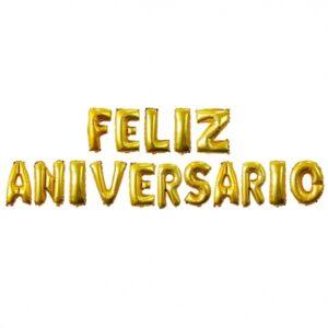 Letras Feliz Aniversario Dorado
