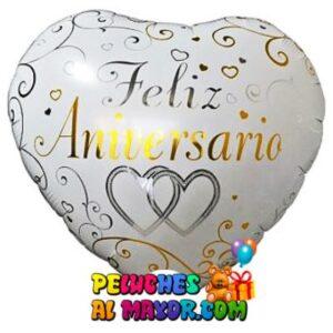 18'' Feliz Aniversario Copas Blanco