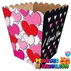 Cajas Canelo Cotufera Peq Love x 12u