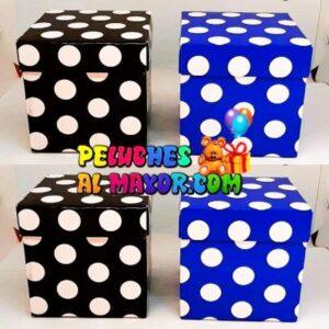 Cajas Cubo 11x11 lunares x12 unid