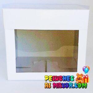 Cajas c/acetato 25x25 blanco x6 unid