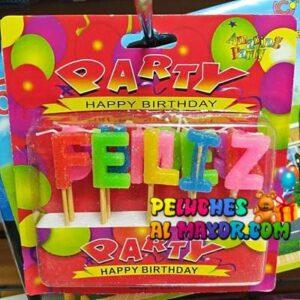 Velas Letras Colores Feliz Cumpleaños