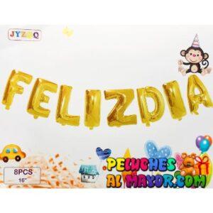 "16"" Letras Feliz Dia Dorado Blister"