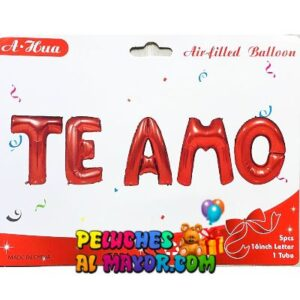 16'' Letras Te Amo Rojo Blister