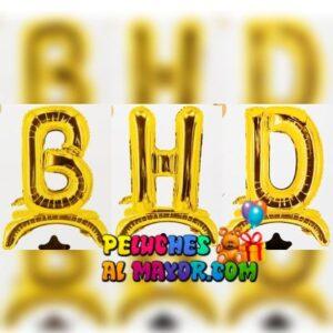 32' Letras HBD Dorado