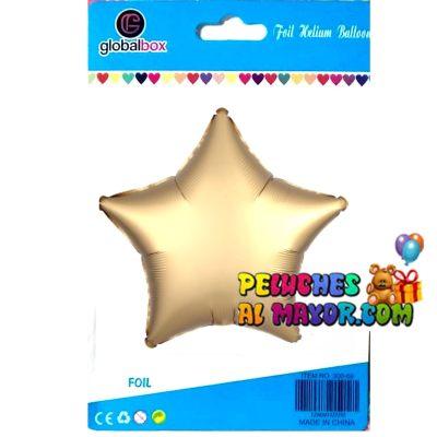 18'' Estrella Mate Dorado en Blister