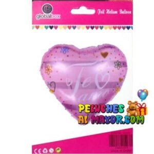 "18"" Amor Cor TA Rosado Corazon Blister"