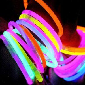 Pulseras Neon Brillantes x 50u