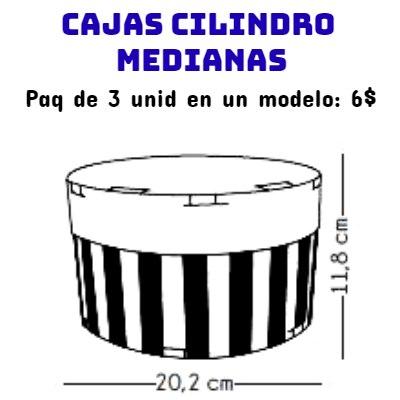 Cajas Canelo Cilindro x3