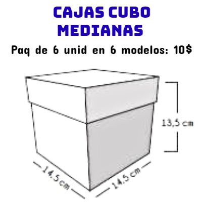 Cajas Canelo Cubo Med Feliz Dia M.x 6u