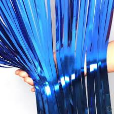 Cortina fiesta metalizada Azul