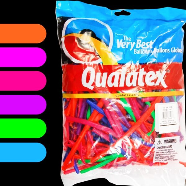 Q260 Qualatex Neon x100 unid