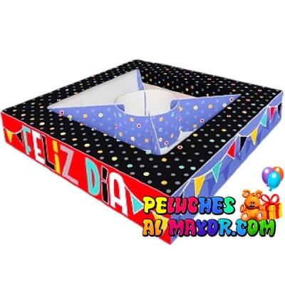 Cajas Canelo 5 partes Feliz DIa x 8u