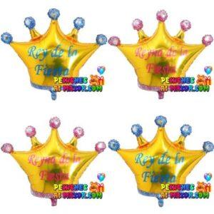 """32"""" Corona Dorada Reina y Reina x4 unid"""