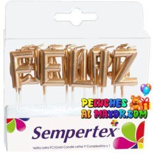 Velas Sempertex Feliz Cumpleaños