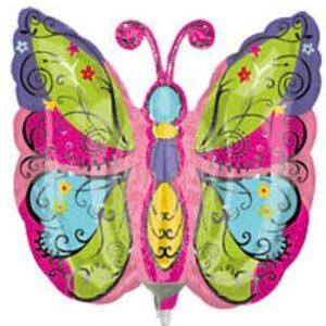14'' Mariposa Rosada x3 unid
