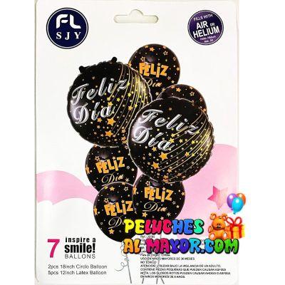 Bouquet FD Negro Letras Doradas