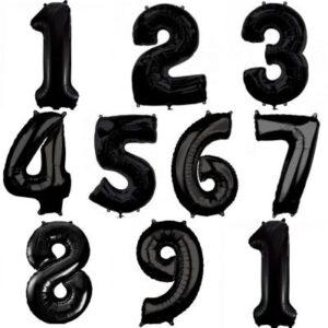 """30"""" Números del 0 al 9 Negro Blister"""