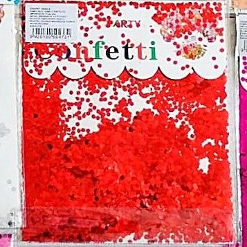 Confetti Círculos Peq. Rojo x2 unid