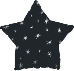 "18"" Estrella Negra Destellos x3 unid"