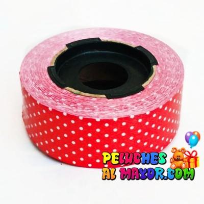 Cinta 30mm Polka Rojo 25m