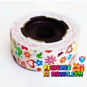 Cinta 30mm Est Coraz/Flores x 25m