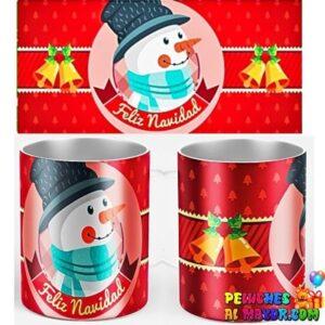 Taza Navidad Muñeco de Nieve