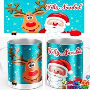 Taza Navidad Santa y Reno