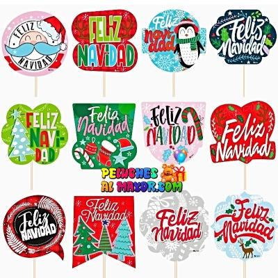 Piropos Grandes Navidad General x12 unid