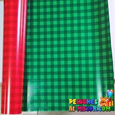 Papel de Navidad Color Doble x12 pliegos