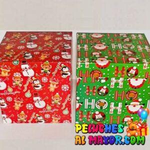 Cajas Cubo 25x25 Navidad x4 unid