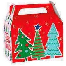 Cajas Canelo Lonchera Med. Navidad x 12u