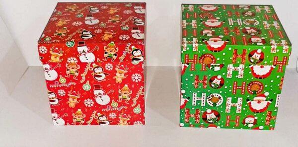 Cajas Cubo 15x15 Navidad x4 unid