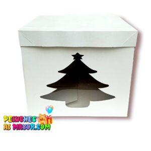 Cajas Cubo 25x25 Arbolito x4 unid