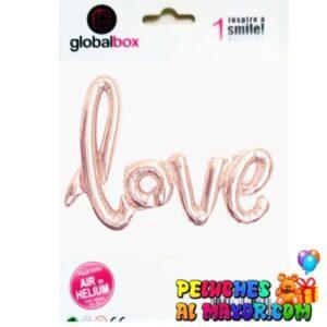 "42"" Letras LOVE Cursivo Rosa Gold Blister"